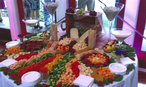 Elegant Veggie and Cheese Table