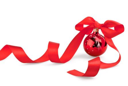 ball and ribbon